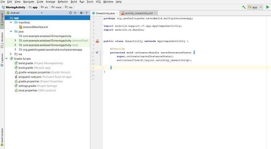 Android Studio screenshot