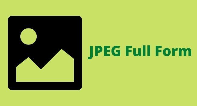 JPEG Full Form