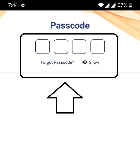 enter UPI passcode