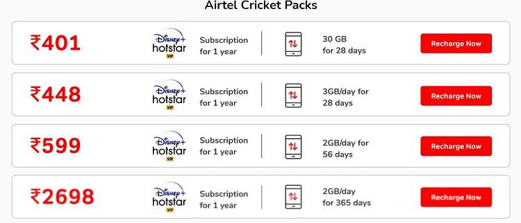 airtel hotstar offer