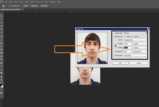 Photoshop passport size maker