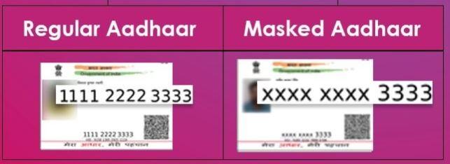 Regular Vs Masked Aadhaar