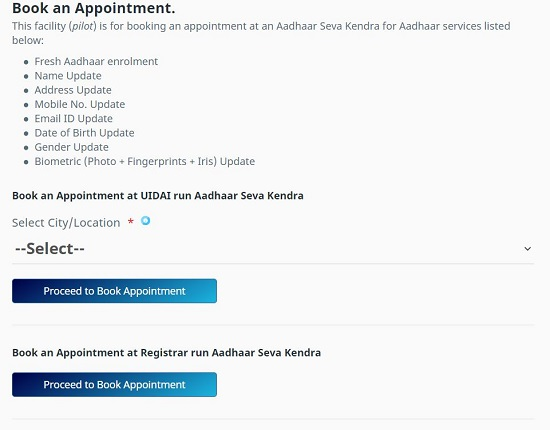 book adhaar appointment