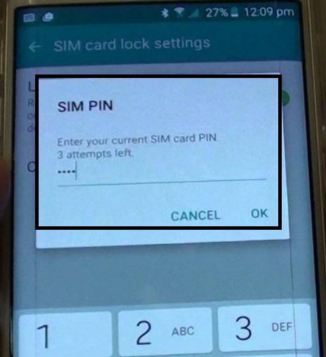 enter sim unlock pin
