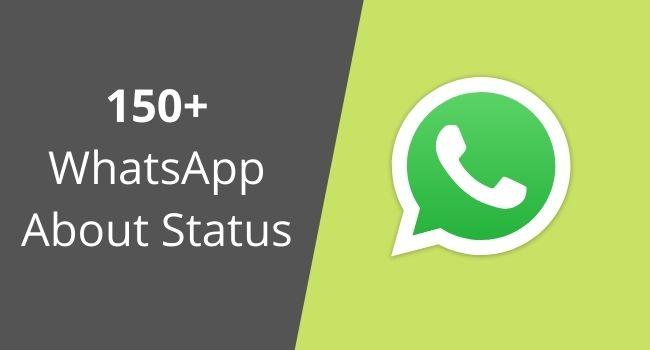 150+ WhatsApp About Status