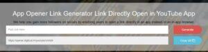 App Opener URL Generated