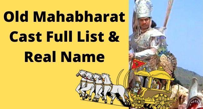 Mahabharat Cast Full List & Real Name