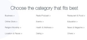 Select news app category