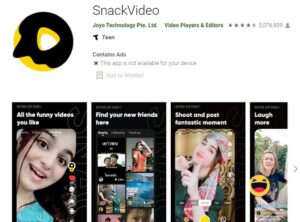 Snack video download