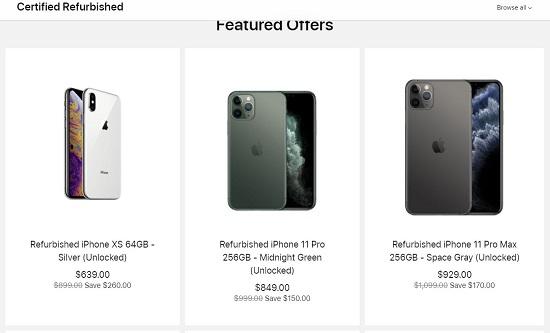 Apple Refurbished Certified