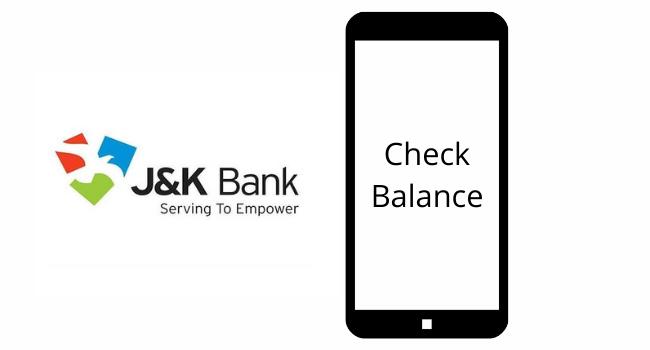 JK bank balance inquiry