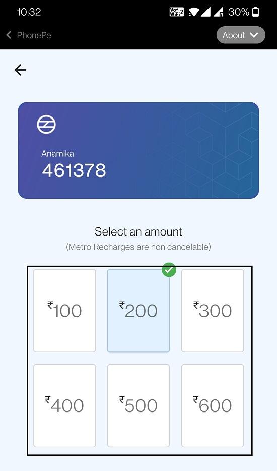 Select Card Payment