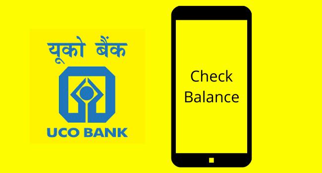 UCO Bank Balance Inquiry