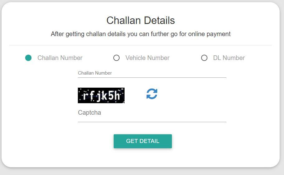 check traffic challan Status