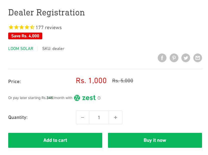 Loom Solar Dealer Registration